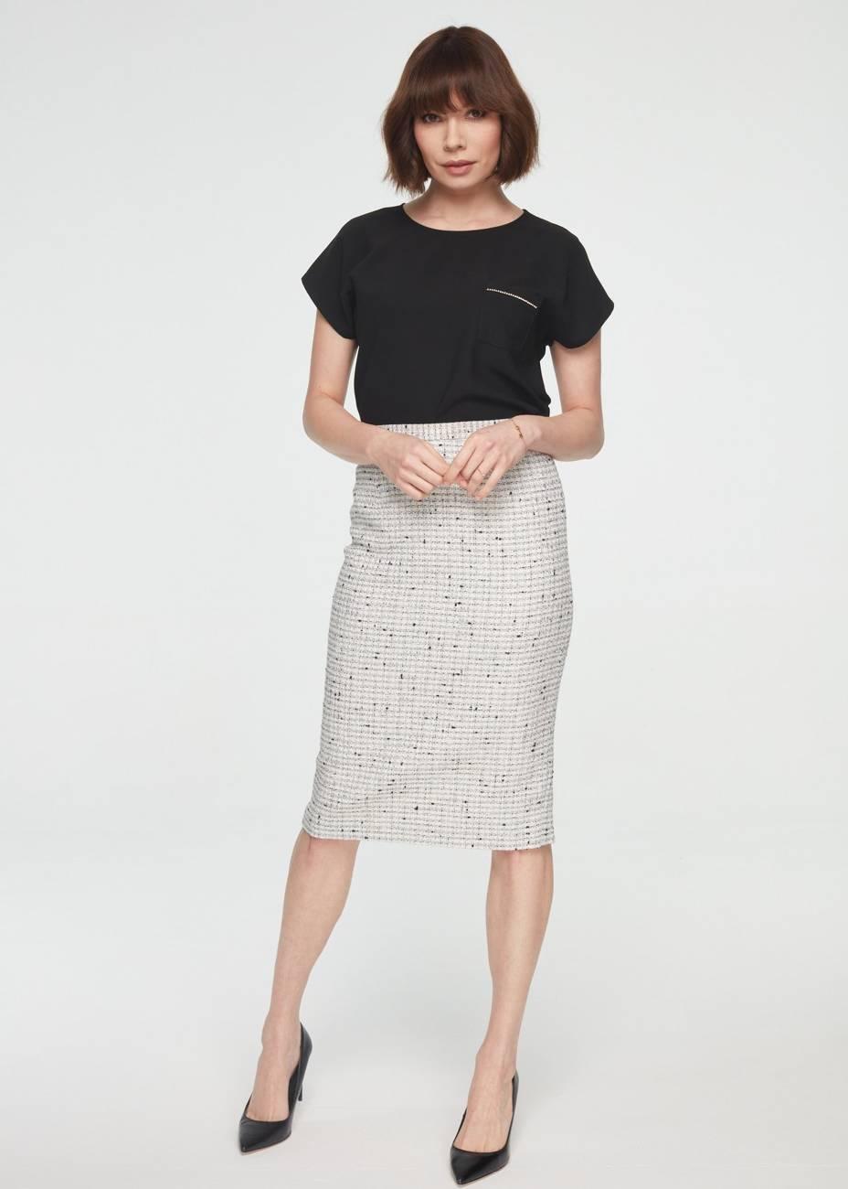 Dopasowana spódnica z bawełny
